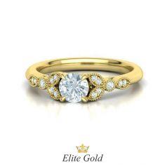 помолвочное кольцо Millie в лимонном золоте
