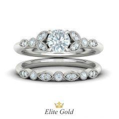 Millie Bridal Set в белом золоте