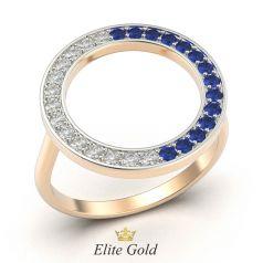 кольцо Ora с белыми и синими камнями