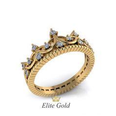 Авторское кольцо-корона Siena с камнями спереди