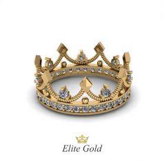 Роскошное авторское кольцо-корона Eden с камнями по ободку