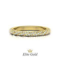 Изысканное женское обручальное кольцо Amanda с россыпью камней по спирали