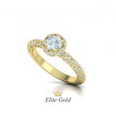 Эксклюзивное помолвочное кольцо Amanda с россыпью камней по спирали