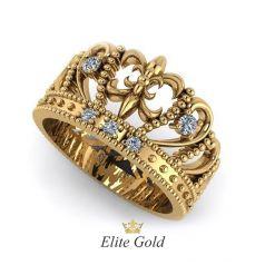 Авторское широкое кольцо-корона Margot