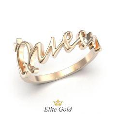 Авторское кольцо в виде надписи Queen