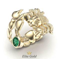 кольцо Desert King в форме скорпиона в желтом золоте