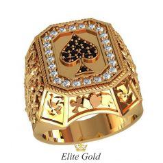 мужской перстень Spade в классическом цвете золота