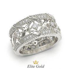 кольцо Marceline в белом золоте с белыми камнями