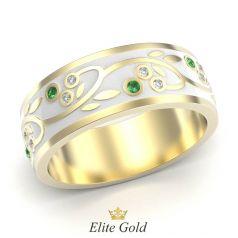 кольцо Cassara в желтом золоте 585