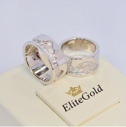 Обручальные эксклюзивные кольца Альпы без камней