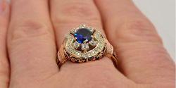 мужские кольца в комбинированном золоте