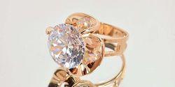 кольцо с фианитом 12 мм