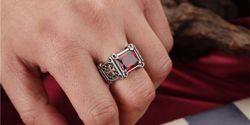 кольца с квадратным камнем