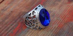 Мужские кольца с синими камнями