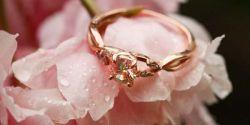 кольца с розой