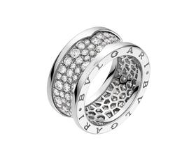 кольцо булгари в камнях в блелом золоте