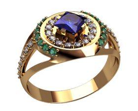 Мужское кольцо дизайнерское с камнями