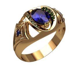 Мужское небольшое кольцо с камнем и узорами