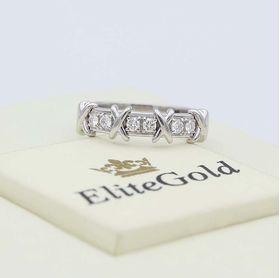 кольцо Caroline в белом золоте 585