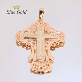 крест в красном и белом золоте середина