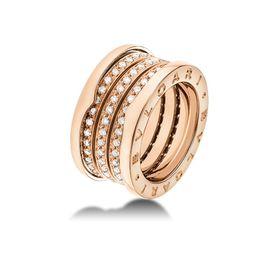 кольцо в стиле Bvlgari в красном золоте