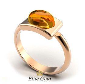 кольцо Amber в красном золоте с цитрином