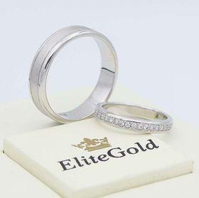 кольца Ardelis в белом золоте с матированием мужского кольца