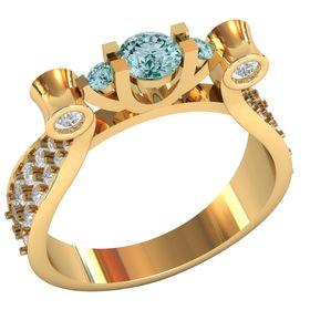 женское повседневное кольцо с камнями