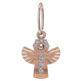 кулон ангелочек с камнями