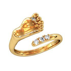 кольцо в виде детской ножки