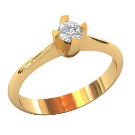 женское кольцо солитер для помолвки