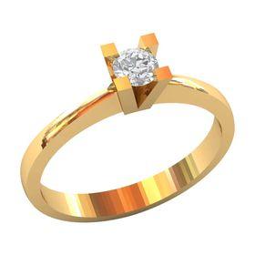 классическое кольцо солитер для помолвки