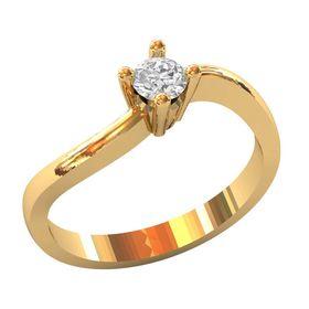 женское кольцо для помолвки с камнем