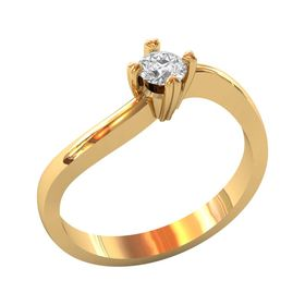 женское кольцо-солитер для помолвки