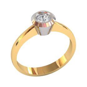 Женское дизайнерское кольцо боченок с одним камнем