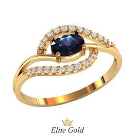 Женское дизайнерское кольцо с овальным камнем
