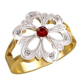 женское кольцо в виде цветочка