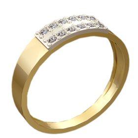 женское кольцо 12 камней с накладкой