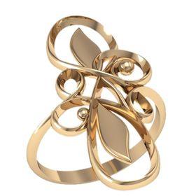 женское кольцо без камней с узорами