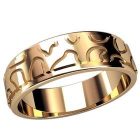 мужское кольцо без камней