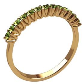 женское кольцо с камнями