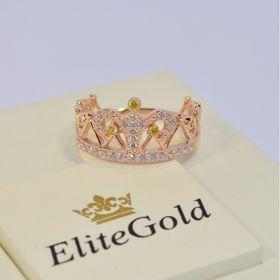 кольцо корона с камнем вверху