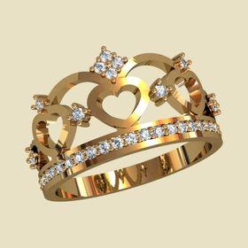 женское кольцо корона