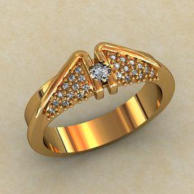 дизайнерское кольцо с камнями крылья ангела