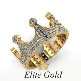 """Авторское кольцо-корона """"Bellatrix"""" с белыми камнями"""