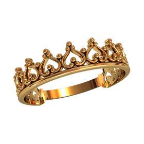 кольцо корона без камней