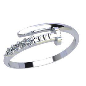 кольцо в видя гвоздя в белом золоте