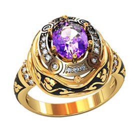 авторский перстень Desert Sands с фиолетовым камнем