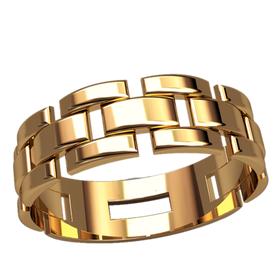 мужское кольцо Contour в красном золоте