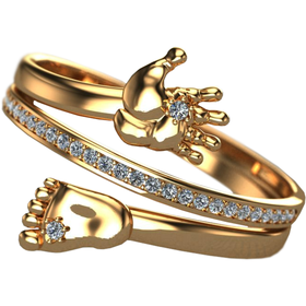 кольцо на рождение ребенка